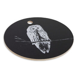 Cutting board Owl black 24cm