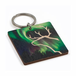 Keychain Northern Lights reindeer
