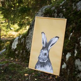 Hare poster 50x70cm