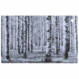 Birch forest cutting board black and white