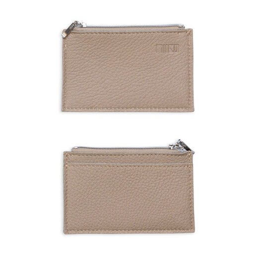 Purse with card pocket, titan