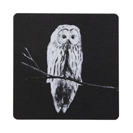 Coaster Owl, black