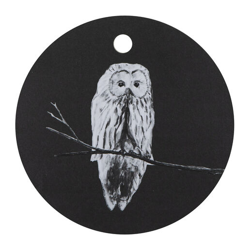 Cutting board 24cm Owl, black