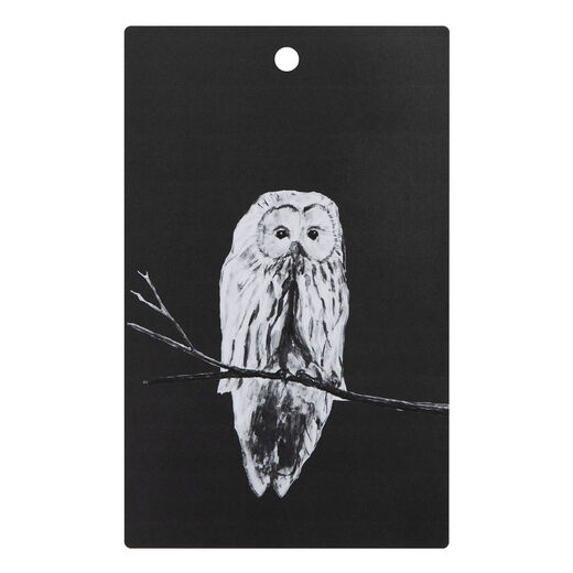 Cutting board Owl, black