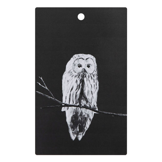 Cutting board Owl black