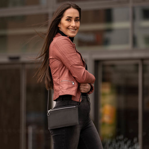 Piilo bag, black silver