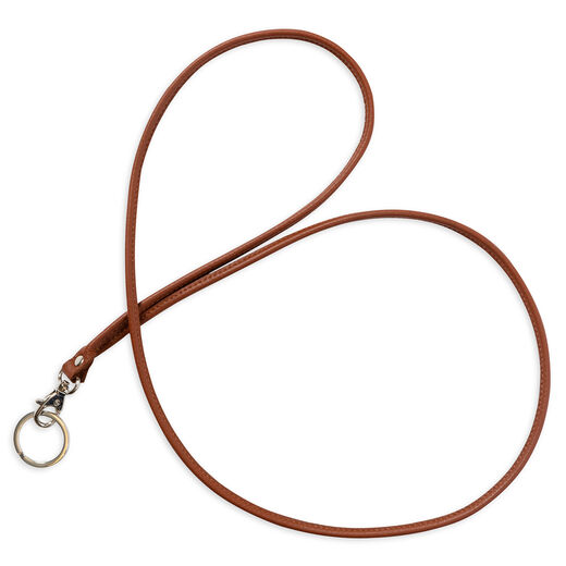 Key lanyard long, brown