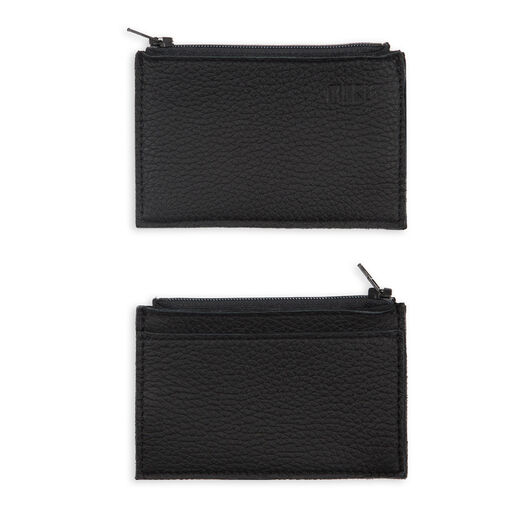 Clutch with card pocket, black