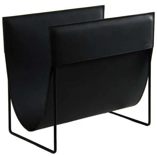 Makasiini magazine rack, black