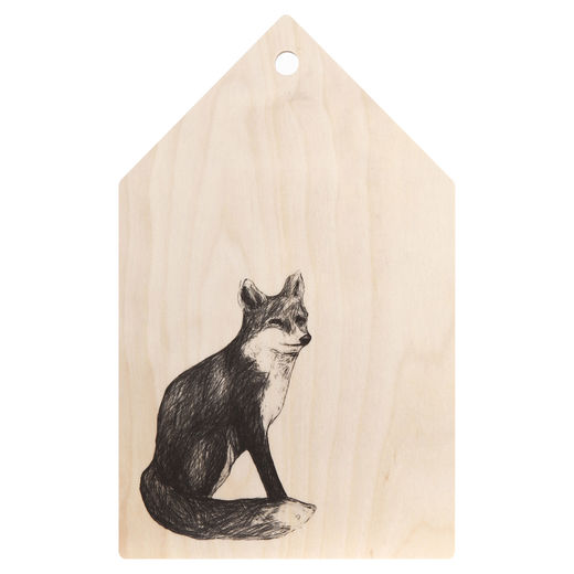 Fox cutting board