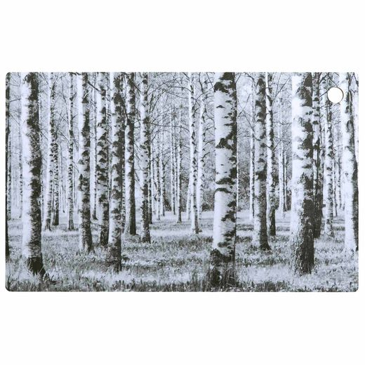 Cutting board Birch forest, black and white
