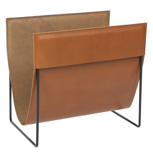 Makasiini magazine rack, brown