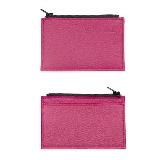 Purse with card pocket, pink