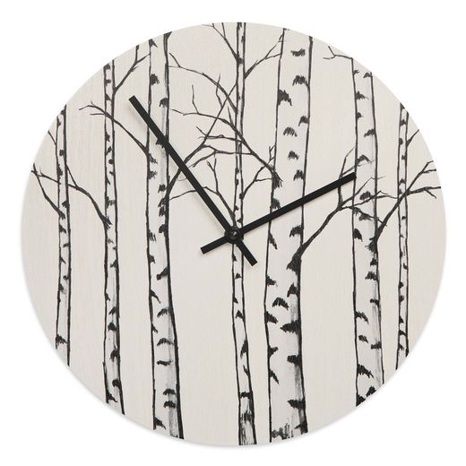 Wall clock Birches